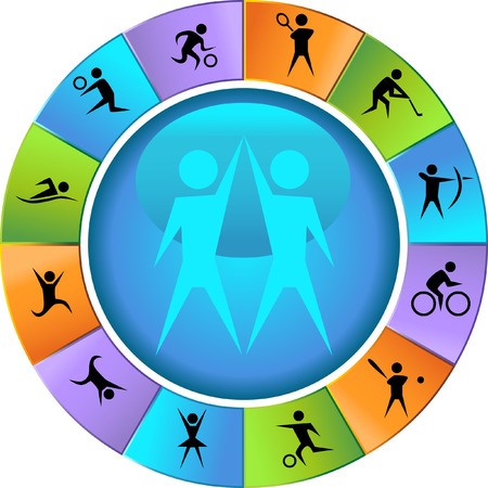 image size: Sports Wheel Icon Set vector illustration image scalable to any size. Illustration