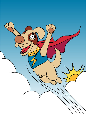 Super Dog vector illustration image scalable to any size. Vector
