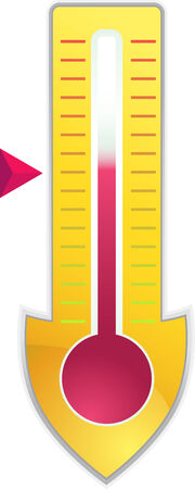 goal meter shield vector illustration image scalable to any size.