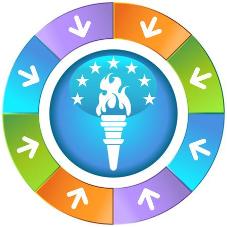 image size: Antorcha icono rueda ilustraci�n imagen vectorial escalable a cualquier tama�o.