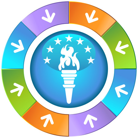 torch icon wheel vector illustration image scalable to any size. Vector