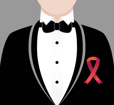 formal event red ribbon vector illustration image scalable to any size. Stock Illustratie