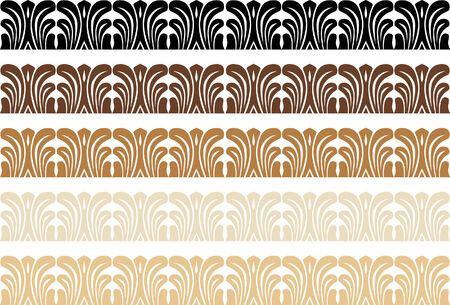 image size: Decorative Wood Border vector illustration image scalable to any size.