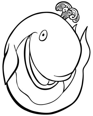 image size: Whale Cartoon vector illustration image scalable to any size.