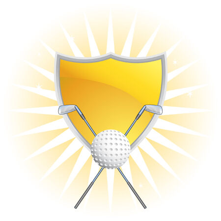 prize: golf crest isolated on a white background image. Illustration