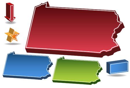 pennsylvania: Pennsylvania State isolated on a white background.