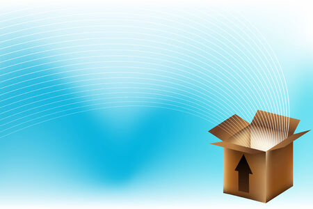 brown box: brown box delivery background Illustration