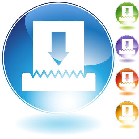 Shredder Icon isolated on a white background. Illusztráció