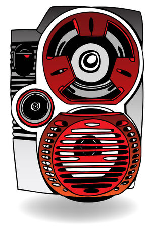 Speaker Icon drawing isolated on a white background.