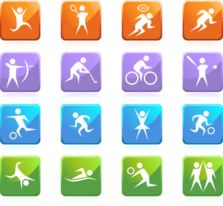 Sport set isolated on a white background. Vector