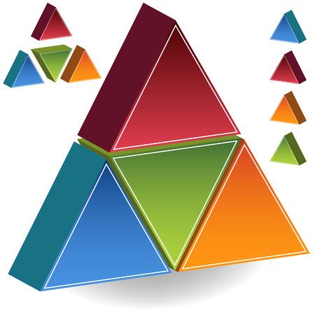 Jeu de pyramide isolée sur un fond blanc. Banque d'images - 5659760