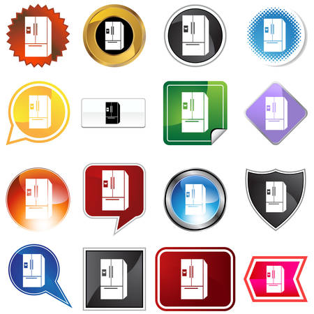 Refrigerator icon set isolated on a white background. Stock Vector - 5659748