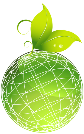 land development: planet leaf isolated on a white background. Illustration