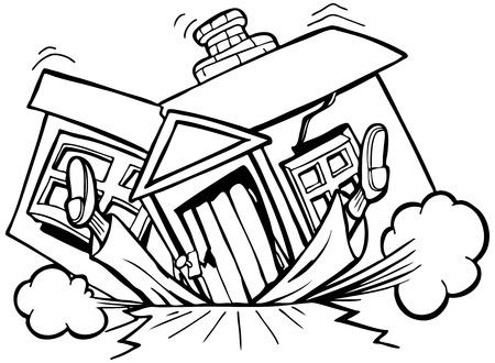 damaged: Image based on the phrase,  Illustration