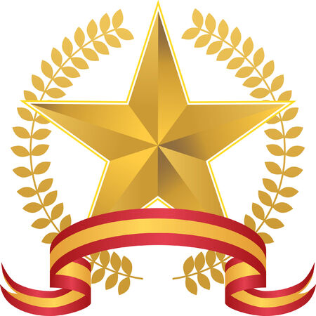 star award: star wreath isolated on a white background.