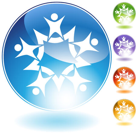 teamwork icon isolated on a white background. Illusztráció