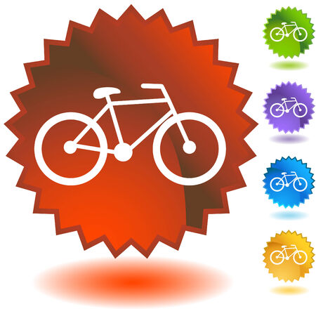 Bicycle Badge isolated on a white background image. Vector