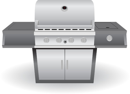 barbecue Grill Set isolated on a white background.  イラスト・ベクター素材