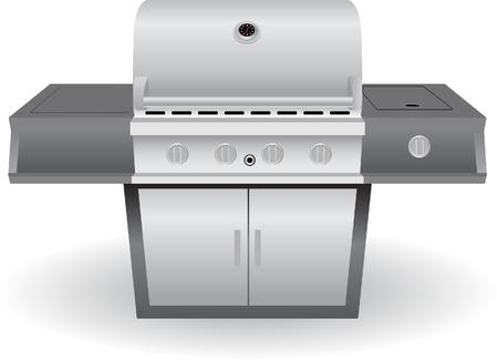 Barbecue Grill festlegen auf einem weißen Hintergrund isoliert. Standard-Bild - 5697253