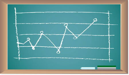 line graph isolated on a white background. Illusztráció