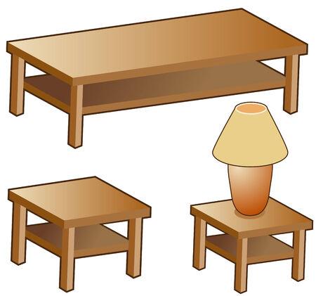 Muebles de sala de estar aislado en un fondo blanco. Foto de archivo - 5696768