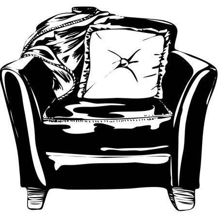 leather chair: Sedia in pelle isolato su uno sfondo bianco.