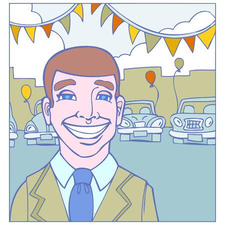 car sales 矢量图像