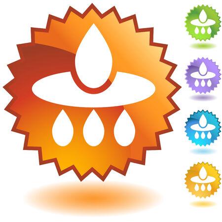 filter badge isolated on a white background. Reklamní fotografie - 5716800