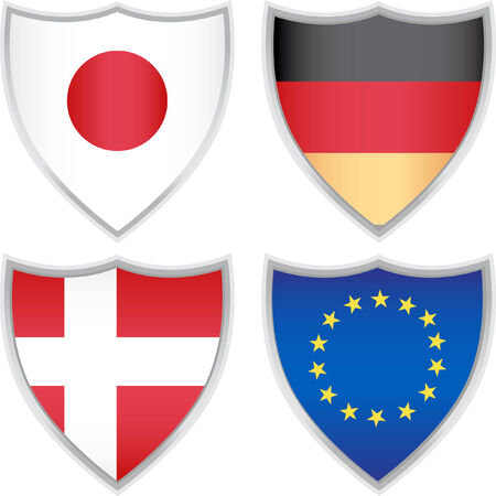flag icons isolated on a white background. Ilustrace