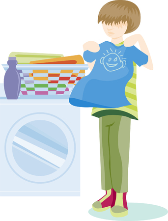 folding clothes isolated on a white background. Stock Vector - 5716784