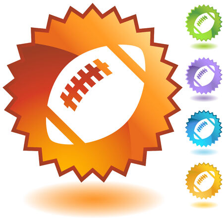 football badge isolated on a white background. Stock Vector - 5716809