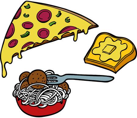 Italian food items