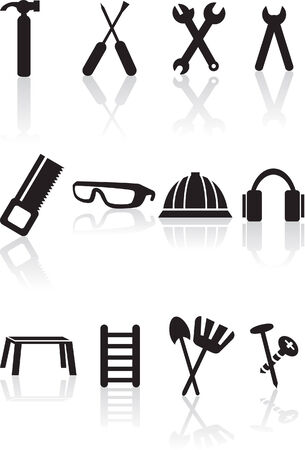 Tool Set isolated on a white background.