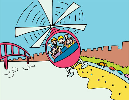 San Francisco のツアーの人々 とヘリコプターに乗る。