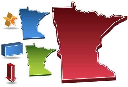 Minnesota State isolated on a white background. Vector