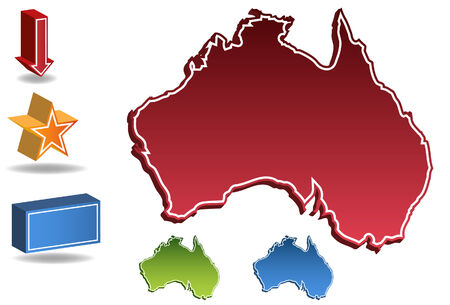 Australia map isolated on a white background. Vector