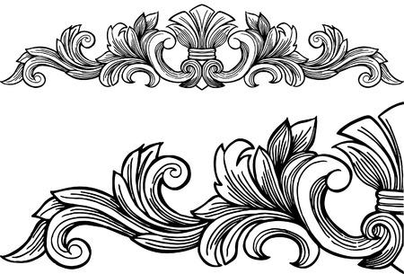 decoration: Decorative Frame isolated on a white background. Illustration