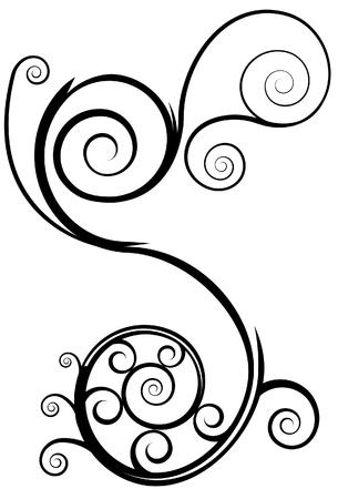 Swirl element geïsoleerd op een witte achtergrond.