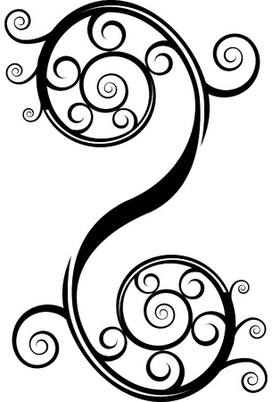 Swirl element Icon isolated on a white background.