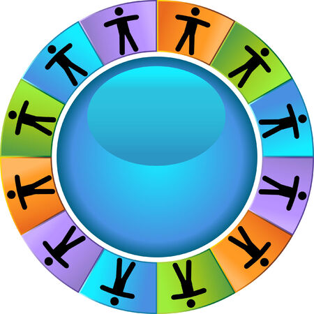 Team Wheel isolated on a white background. Vector