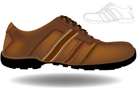 Brown schoen geïsoleerd op een witte achtergrond.