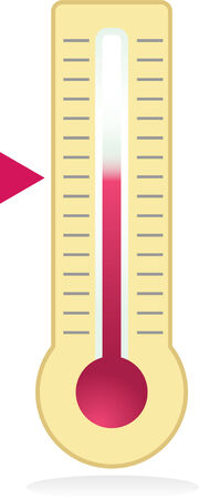 fundraising: goal meter isolated on a white background.