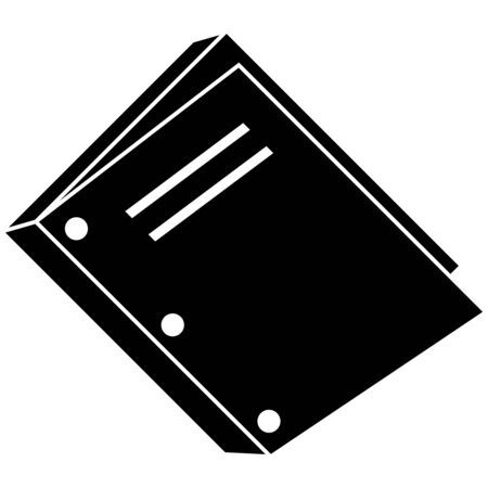 binding: three hole punch book binding icon isolated on a white background. Illustration