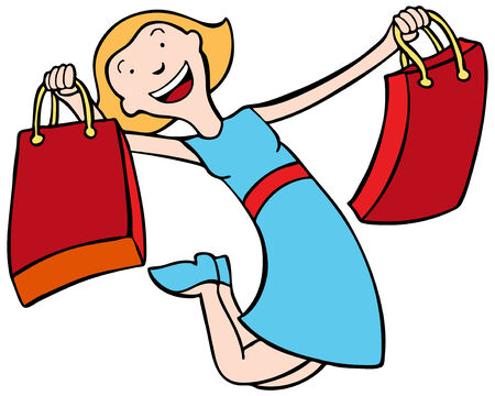 Shopper Color isolated on a white background.