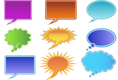Communication bubble isolated on a white background. 일러스트