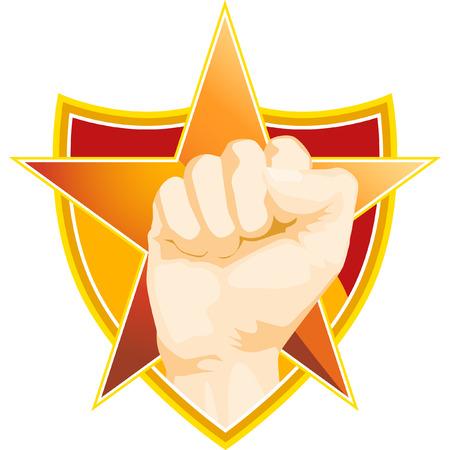 Fist Star isolated on a white background. Ilustração