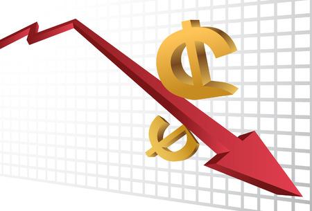 stock market crash: Stock Market Crash isolated on a white background.