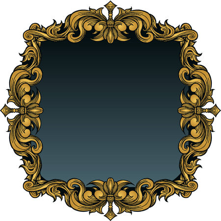 Picture Frame Royal isolated on a white background.