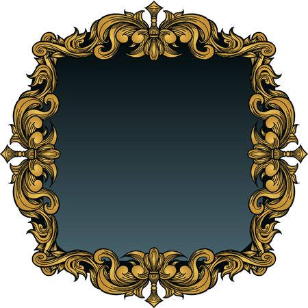 Foto marco real aislado en un fondo blanco. Foto de archivo - 5807902