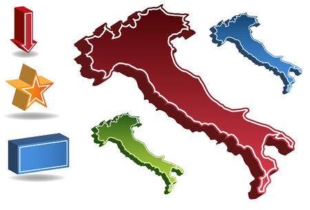 Italy country map isolated on a white background. Vector